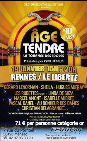 Concert Age Tendre, les 10 ans.